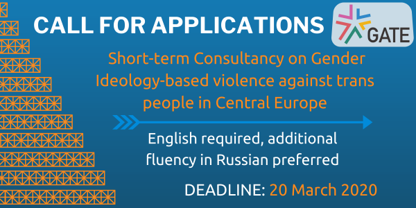 Call for applications: Consultancy on Gender ideology-based violence against trans people in Central Europe