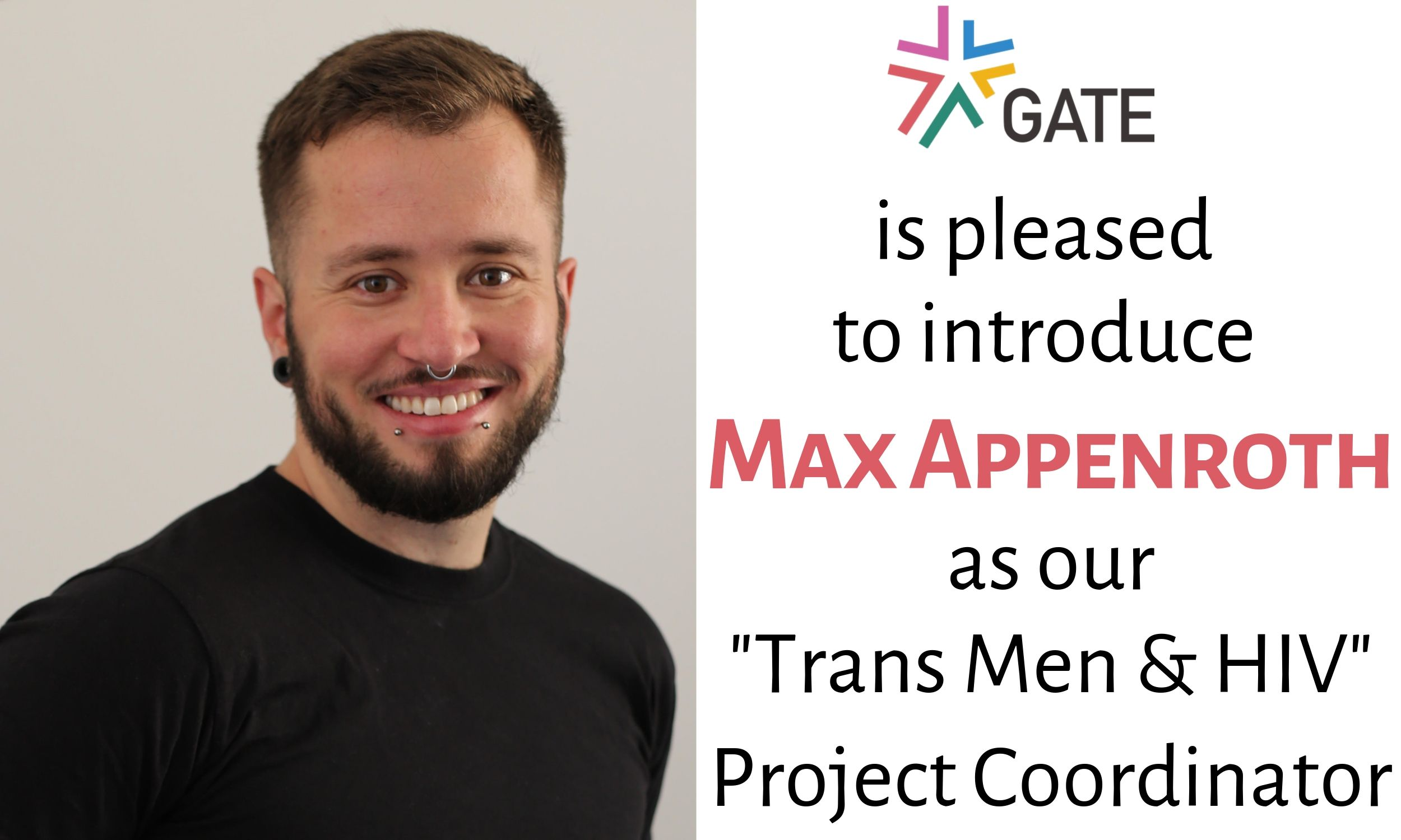 "Announcement: GATE Hires Project Coordinator for ""Trans Men and HIV"""