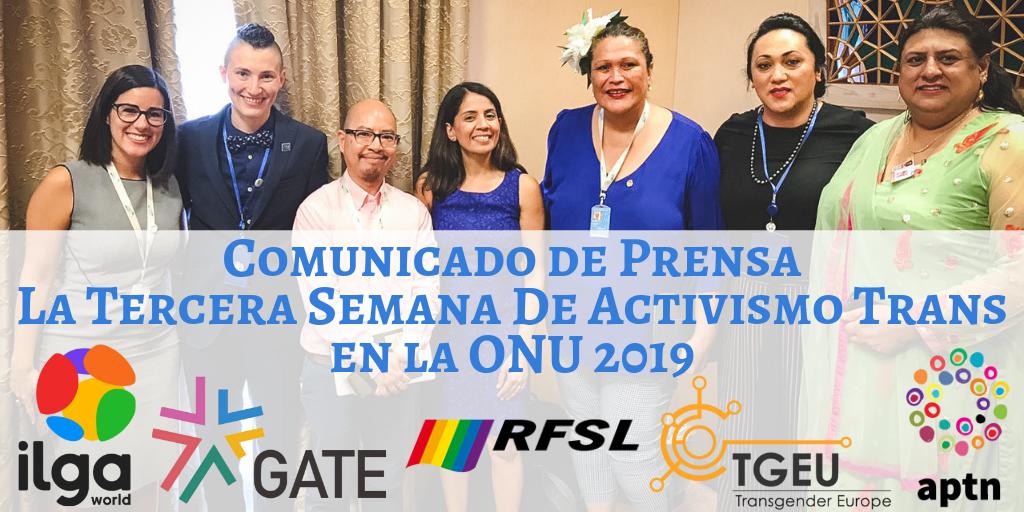 Comunicado de Prensa: La 3ª Semana de la Activismo Trans de la ONU