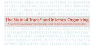The State of Trans and Intersex Organizing 2013