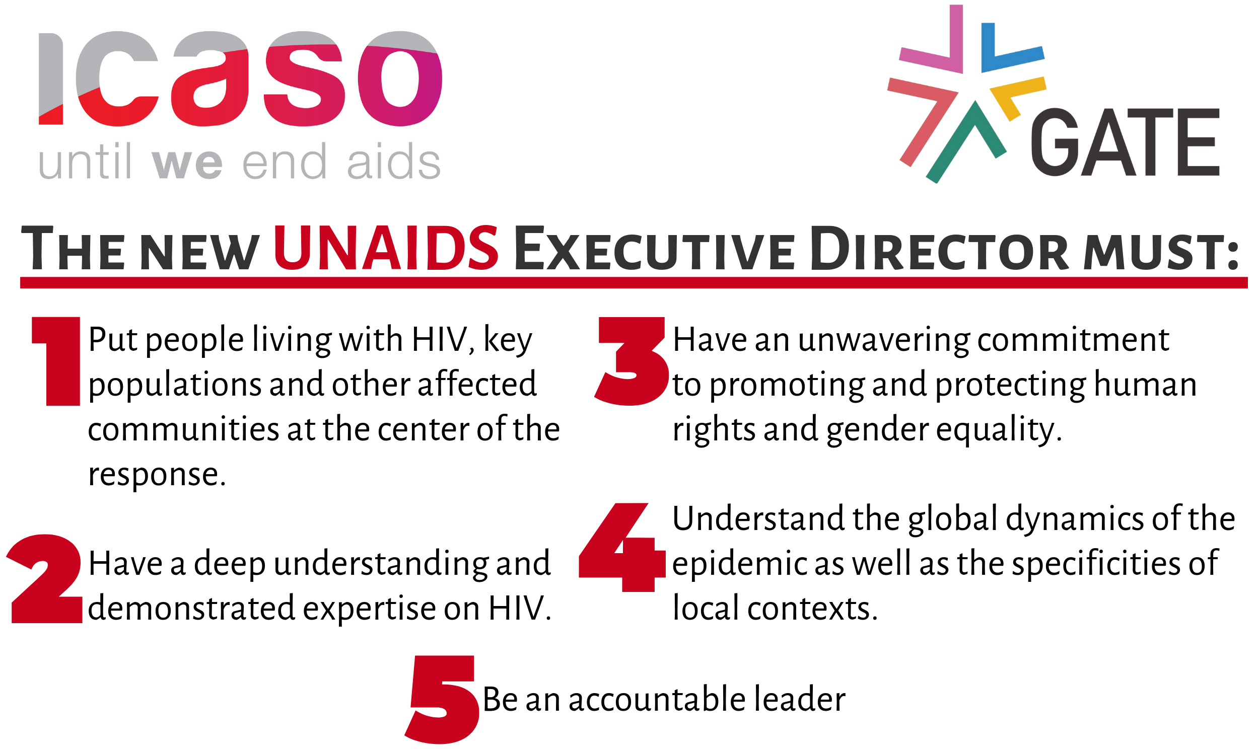 Joint Statement: Selection of UNAIDS Executive Director