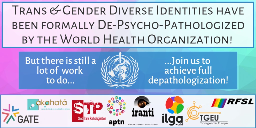 Joint Statement on ICD-11 process for trans & gender diverse people