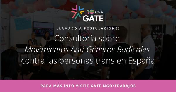 Llamado a postulaciones: Consultoría sobre Movimientos Anti-Géneros Radicales en España