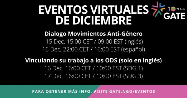 Eventos Virtuales de Diciembre