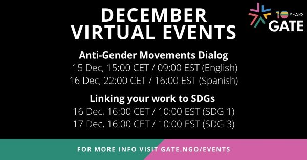 December 2020 Virtual Events