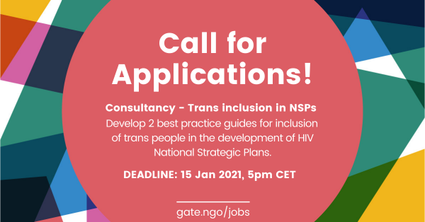 Call for Applications: Consultancy on trans inclusion in National Strategic Plans
