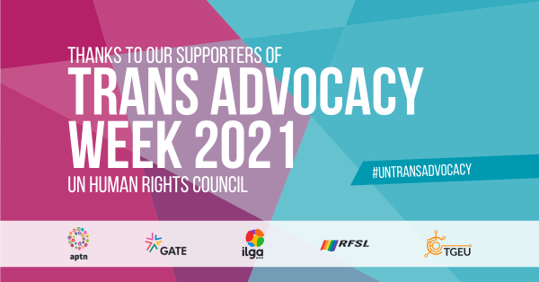 Trans Advocacy Week 2021 Supporters